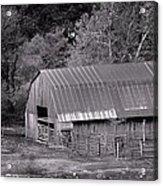 Barn In Black And White Acrylic Print by Edward Hamilton