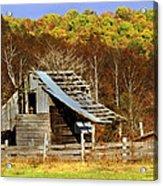 Barn In Fall Acrylic Print