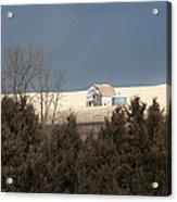 Barn In North Dakota Acrylic Print