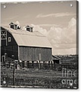 Barn In Polaroid Acrylic Print