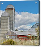 Barn In The Clouds Acrylic Print