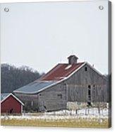 Barn In The Field Acrylic Print