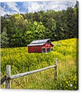 Barn In The Meadow Acrylic Print