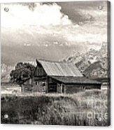 Barn In The Tetons Acrylic Print