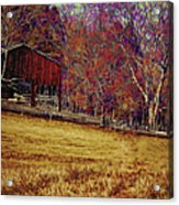 Barn In The Woods-featured In Barns Big And Small Group Acrylic Print