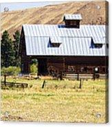 Barn Near Ellensburg Wa Acrylic Print