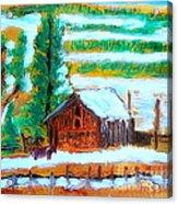 Barn Near Loa Utah 1 Acrylic Print by Richard W Linford