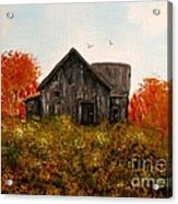 Barn Old Rusted And Deserted Acrylic Print