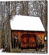 Barn On Great Hill Road Acrylic Print