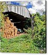 Barn On Small Farm Acrylic Print