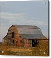 Barn On The Prairie Acrylic Print