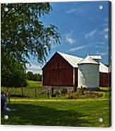 Barn Painting Acrylic Print