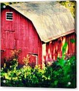 Barn Red Sunset Acrylic Print