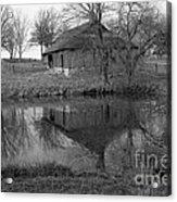 Barn Reflection Acrylic Print