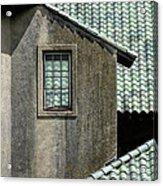 Barn Roofs At The Crane Estate Acrylic Print