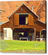 Barn Ten Sleep Wyoming Acrylic Print