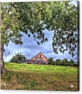 Barn Under A Tree. Acrylic Print