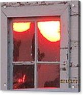 Barn Window Sunset Up Close Acrylic Print