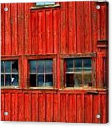 Barn Windows Acrylic Print by Mamie Gunning