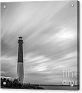 Barnegat Lighthouse Le Sunset Bw Acrylic Print