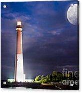 Barnegat Lighthouse Super Moon Acrylic Print