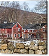 Barns In Winter Acrylic Print