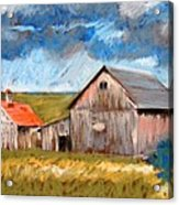 Barns On Maple Street Acrylic Print