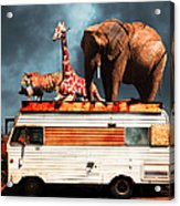 Barnum And Baileys Fabulous Road Trip Vacation Across The Usa Circa 2013 5d22705 With Text Acrylic Print