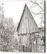 Barnyard Snowfall Acrylic Print
