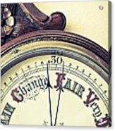 Barometer Acrylic Print by Tom Gowanlock