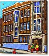 Baron Byng High School 4251 St. Urbain Street Plateau Montreal City  Scene Carole Spandau Montreal A Acrylic Print