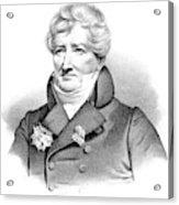 Baron Georges Cuvier (1769-1832) Acrylic Print