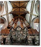Baroque Grand Organ In Oude Kerk Acrylic Print