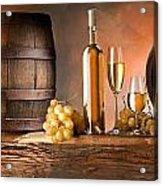 Barrels Grapes Acrylic Print