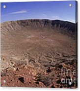 Barringer Crater, Fisheye View Acrylic Print