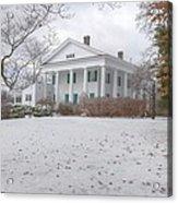 Barrington Hall In The Snow Acrylic Print