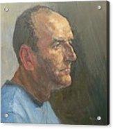 Barry, 2008 Oil On Canvas Acrylic Print