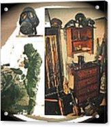 Barry Sadler And Part Of His Weapon's  Nazi Memorabilia Collection Collage Tucson Arizona 1971-2013 Acrylic Print