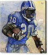 Barry Sanders Acrylic Print by Michael  Pattison