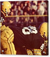 Bart Starr Ready For Snap Acrylic Print by Retro Images Archive