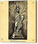 Bartholdi Statue Of Liberty Patent Art 1879 Acrylic Print by Ian Monk