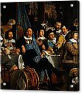 Bartholomeus Van Der Helst Banquet Of The Amsterdam Civic Guard In Celebration Of The Peace Of Munst Acrylic Print