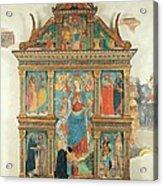 Bartolomeo De Benzi, Madonna And Angels Acrylic Print by Everett