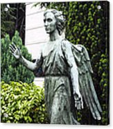 Barzaghi Memorial Side View II Detail Monumental Cemetery Acrylic Print