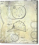 Baseball Patent Panoramic Acrylic Print