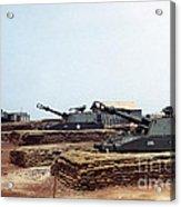 Base Camp Artillery Guns Self-propelled Howitzer M109 Camp Enari Central Highlands Vietnam 1969 Acrylic Print
