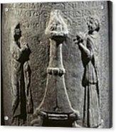 Base Of A Column With A Sacrifice Acrylic Print