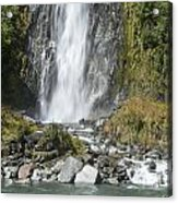Base Of Thunder Creek Falls Acrylic Print