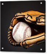 Baseball And Glove Acrylic Print by Joe Belanger