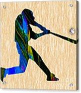 Baseball Art Acrylic Print